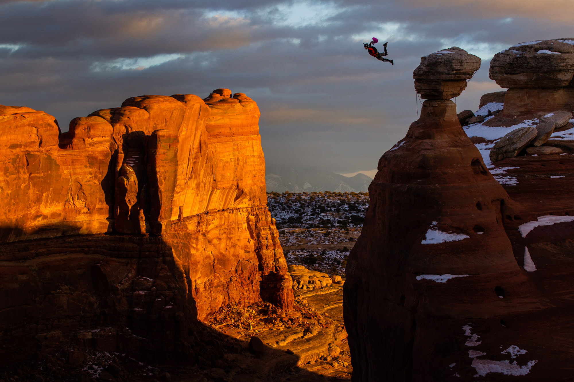 BASE Jump Moab Utah | Extreme Outside Photography