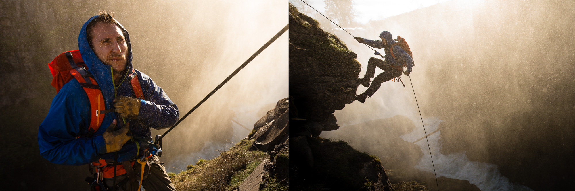 Action Sports Photographer | Rappel Waterfall