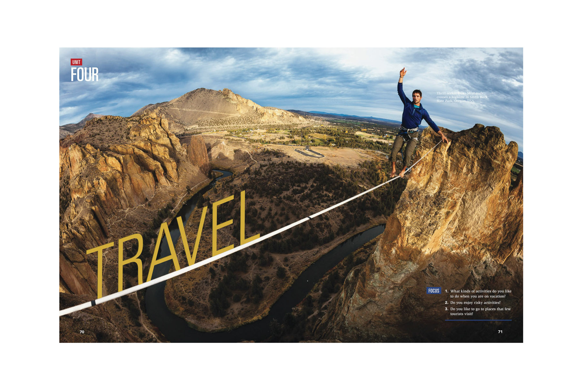 National Geographic Travel Magazine Highlining