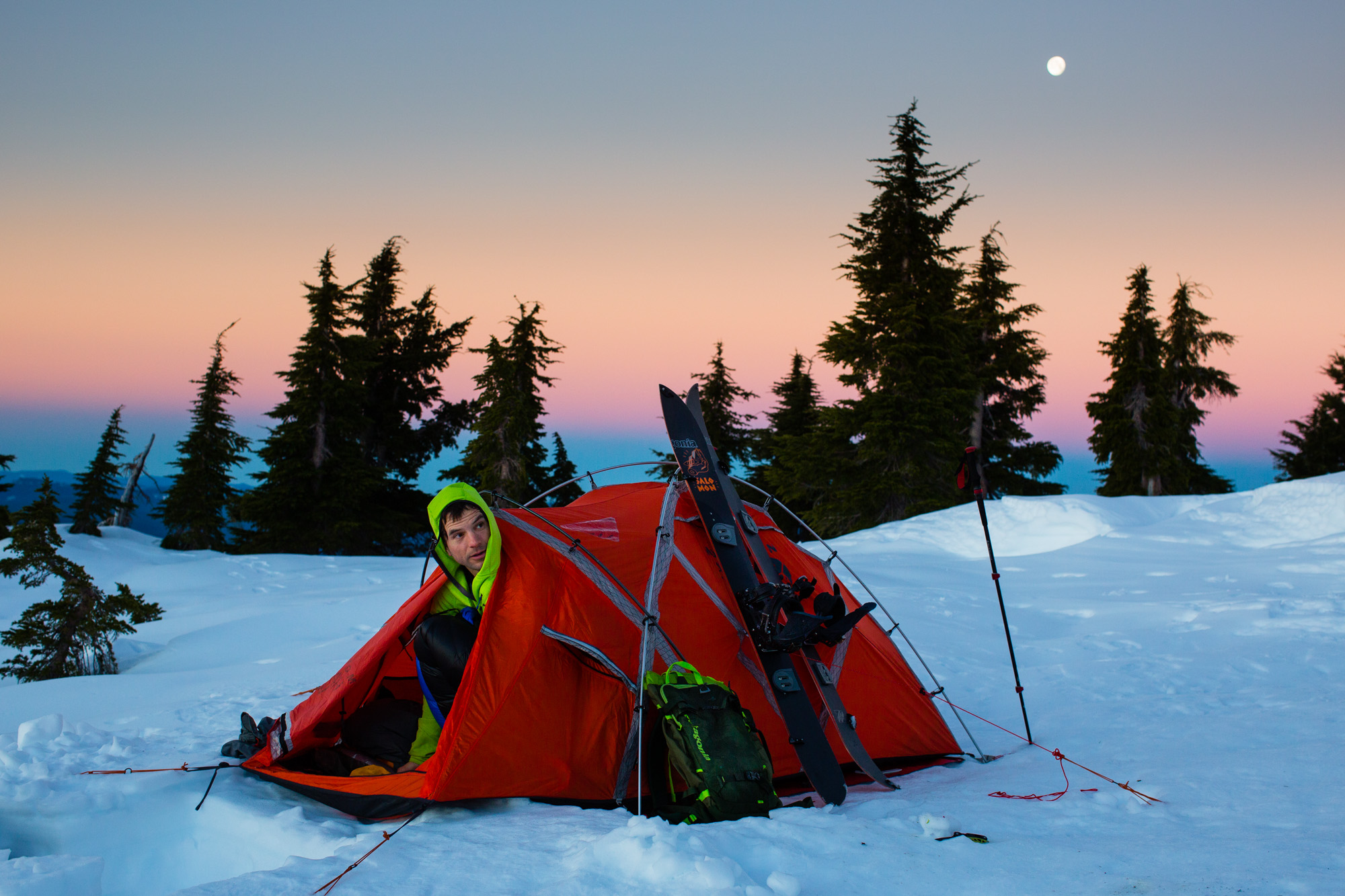 Winter Snow Camp | Oregon Travel and Outdoor Photographer